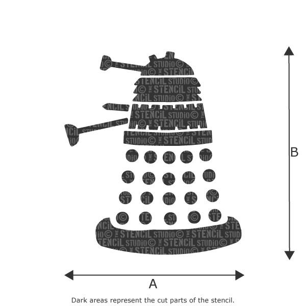 Dalek stencil from The Stencil Studio Ltd
