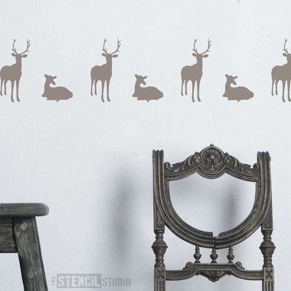 Deer & Fawn stencil from The Stencil Studio Ltd - Size S