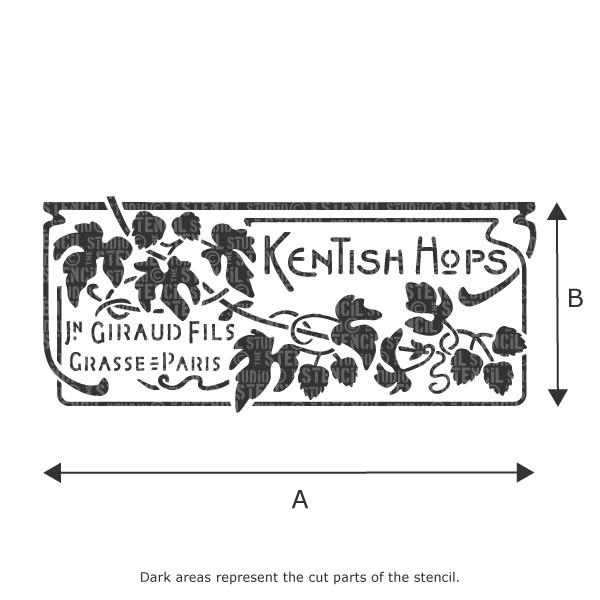 Kentish Hops Vintage French perfume stencil