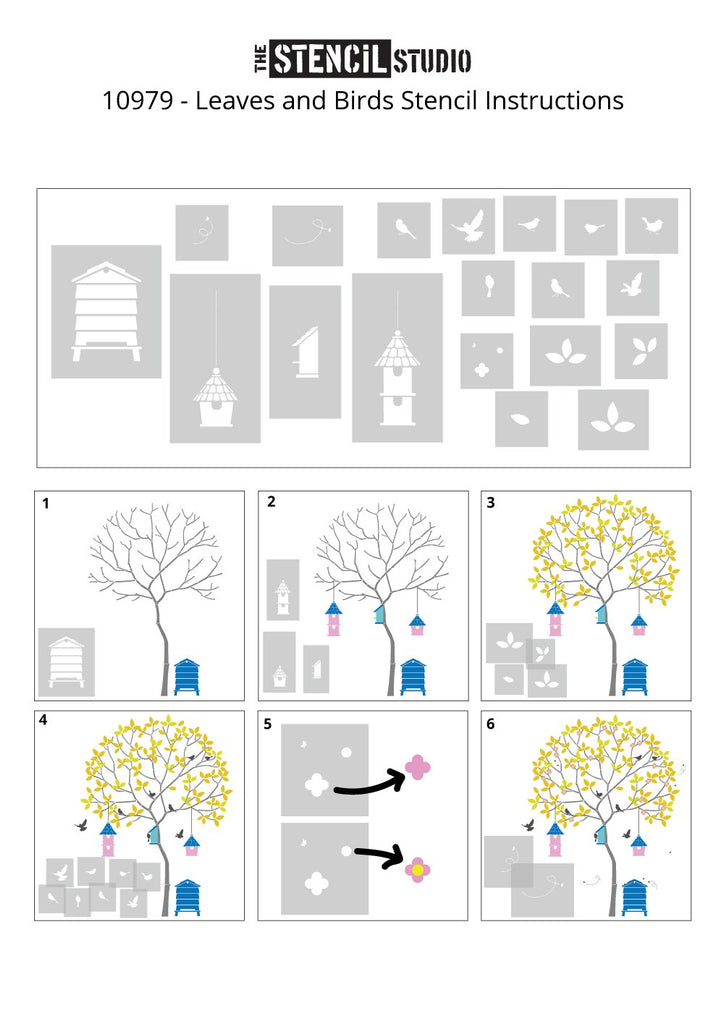 Adding details to the round tree - pictorial instruction sheets