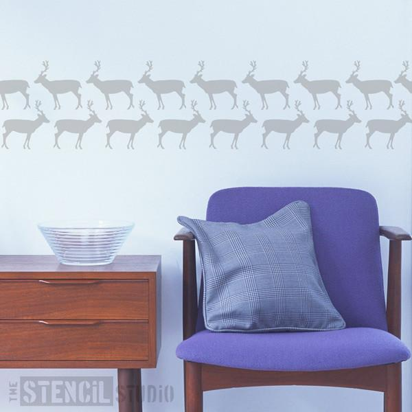 simple Deer stencil from The Stencil Studio Ltd - Size XS