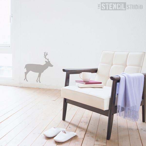 simple Deer stencil from The Stencil Studio Ltd - Size L