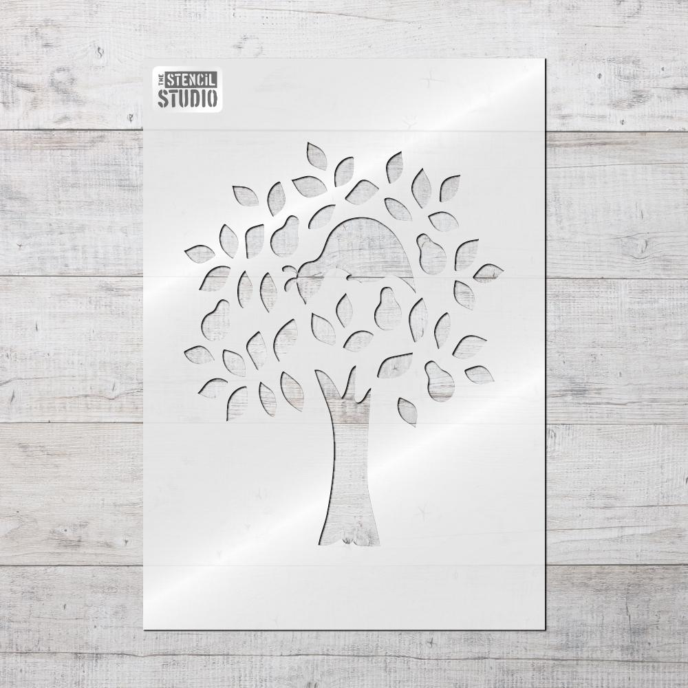 Partridge in a Pear Tree Stencil - Christmas stencils from The Stencil Studio