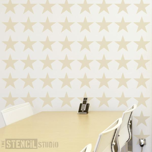 Stars Repeat stencil from The Stencil Studio Ltd - Size L
