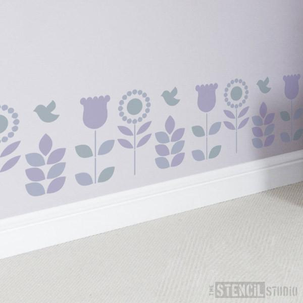 Annelise Border stencil from The Stencil Studio Ltd - Size S