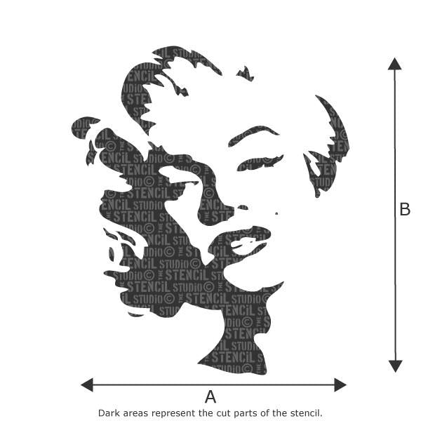 Marilyn stencil from The Stencil Studio Ltd