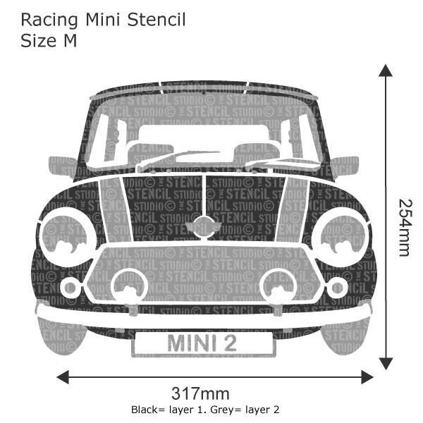 Racing Mini Stencil from The Stencil Studio Ltd