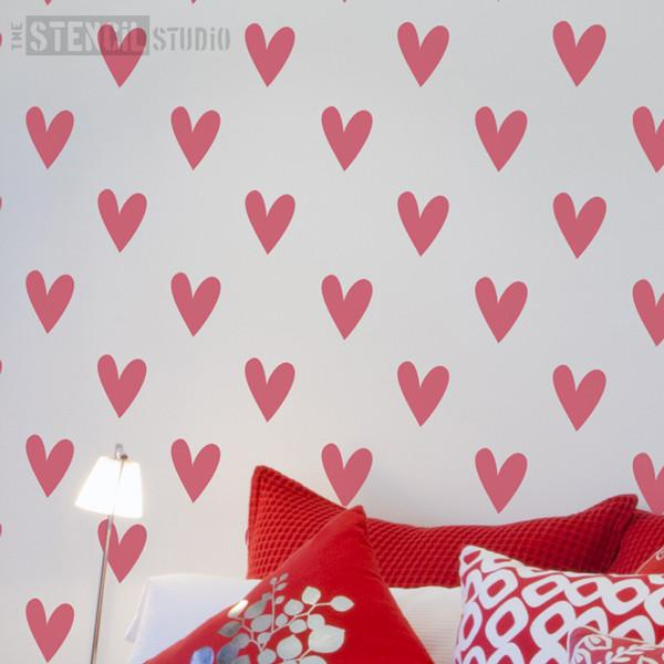 Vintage Heart Repeat stencil from The Stencil Studio Ltd - Size XL