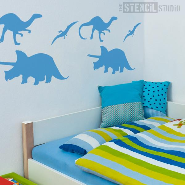 Dinosaur set stencil from The Stencil Studio Ltd - Size L