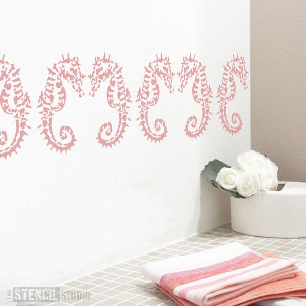 Sofia Seahorse stencil from The Stencil Studio Ltd - Size XS