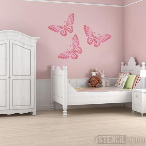 beautiful butterfly stencil from the stencil studio ltd size L