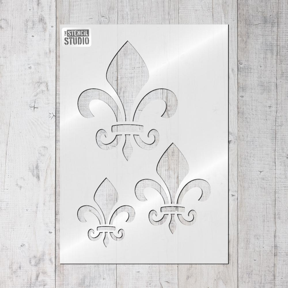 Fleur de Lis stencil from The Stencil Studio