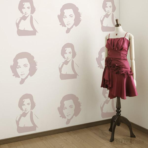 Elizabeth Taylor stencils from The Stencil Studio Ltd - Size L