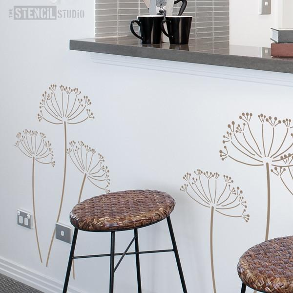 Cow Parsley stencil from The Stencil Studio Ltd - Size XL