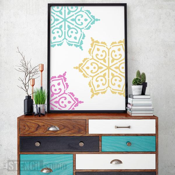 Adoor Motif stencil from The Stencil Studio Ltd - Size XL