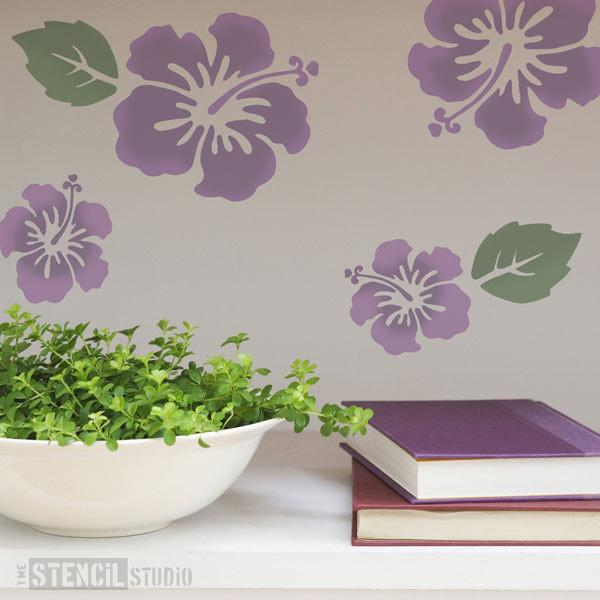 Hibiscus Flower Set stencil from The Stencil Studio Ltd - Size S