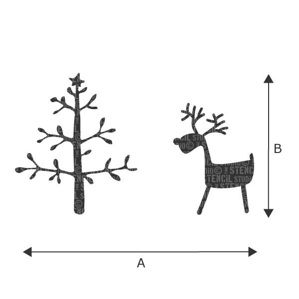 Reindeer & Tree stencil from The Stencil Studio Ltd
