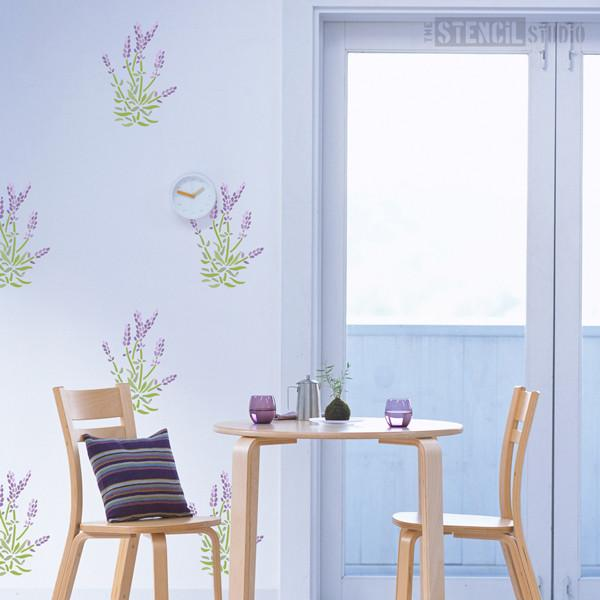 Lavender Flowers stencil from The Stencil Studio Ltd - Size S
