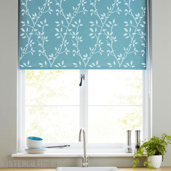 Leaf Trellis Repeat Pattern Stencil