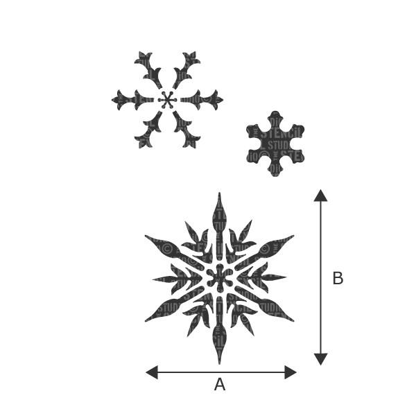 Snowflakes stencil from The Stencil Studio Ltd