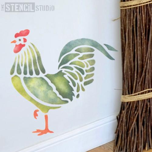 Country Cockerel stencil from the stencil studio ltd - Size XL