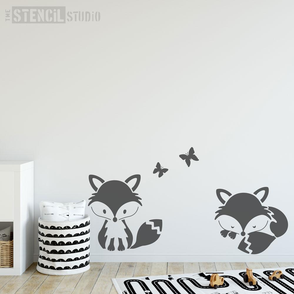 Foxes stencil set from The Stencil Studio - Size XL