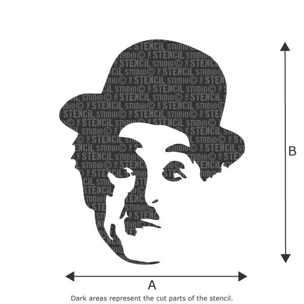 charlie chaplin face stencil from the stencil studio ltd