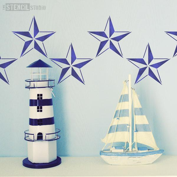 Nautical Star stencil from The Stencil Studio - Size XS