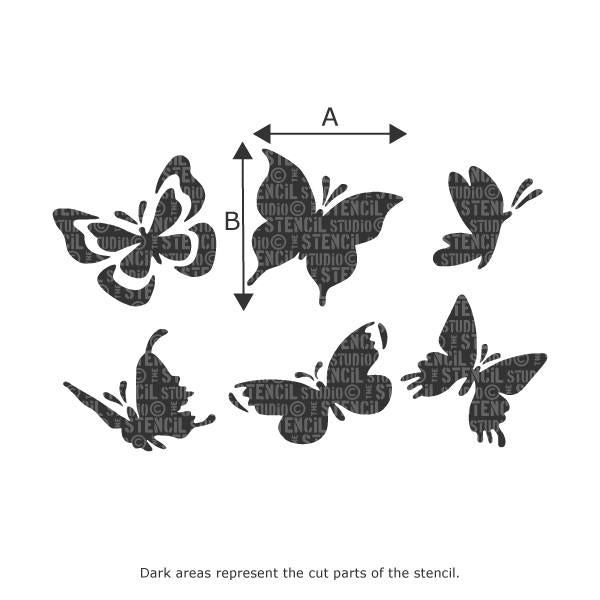 Butterfly Stencil Set from The Stencil Studio Ltd