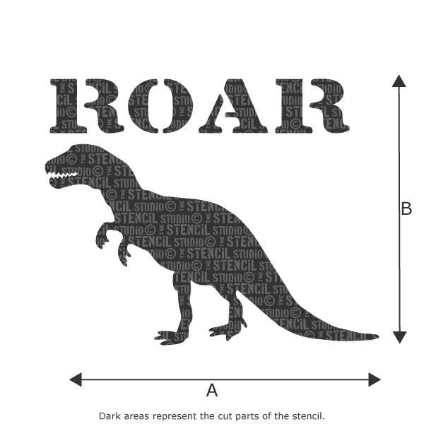 Roar/Dinosaur stencil from The Stencil Studio Ltd
