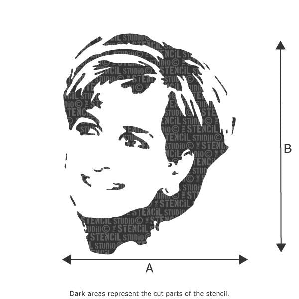 Princess Diana stencil from The Stencil Studio Ltd
