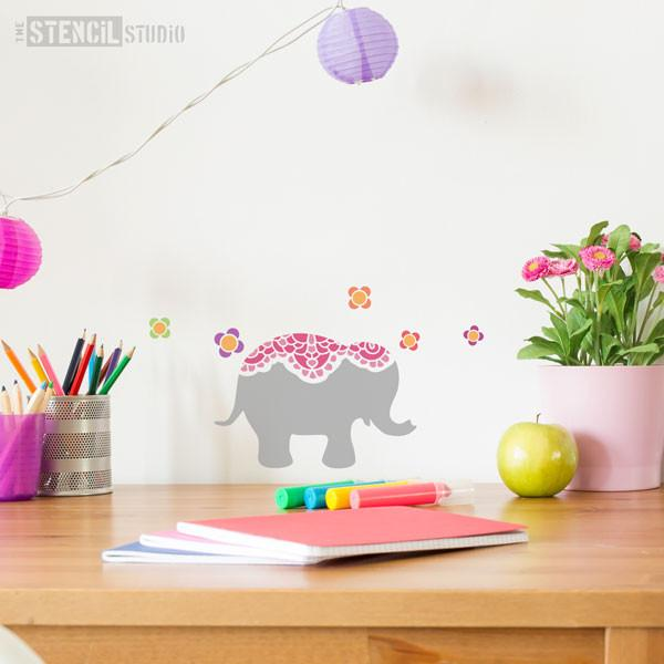Nellie Elephant stencil from The Stencil Studio Ltd - Size XS