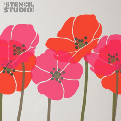 Tall Poppies stencil from The Stencil Studio Ltd