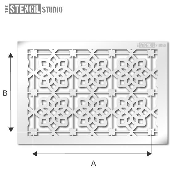Selsley tile repeat stencil from The Stencil Studio Ltd