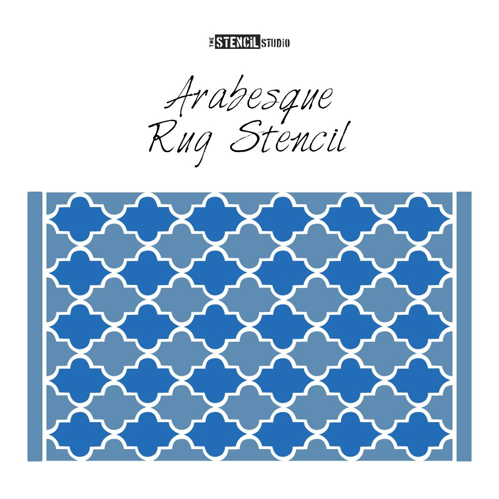Arabesque Rug Stencil from The Stencil Studio