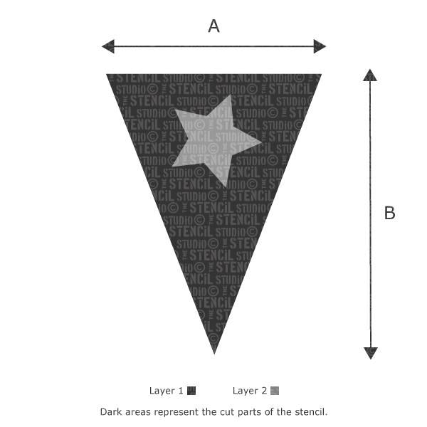 Single Star Bunting stencil from The Stencil Studio Ltd