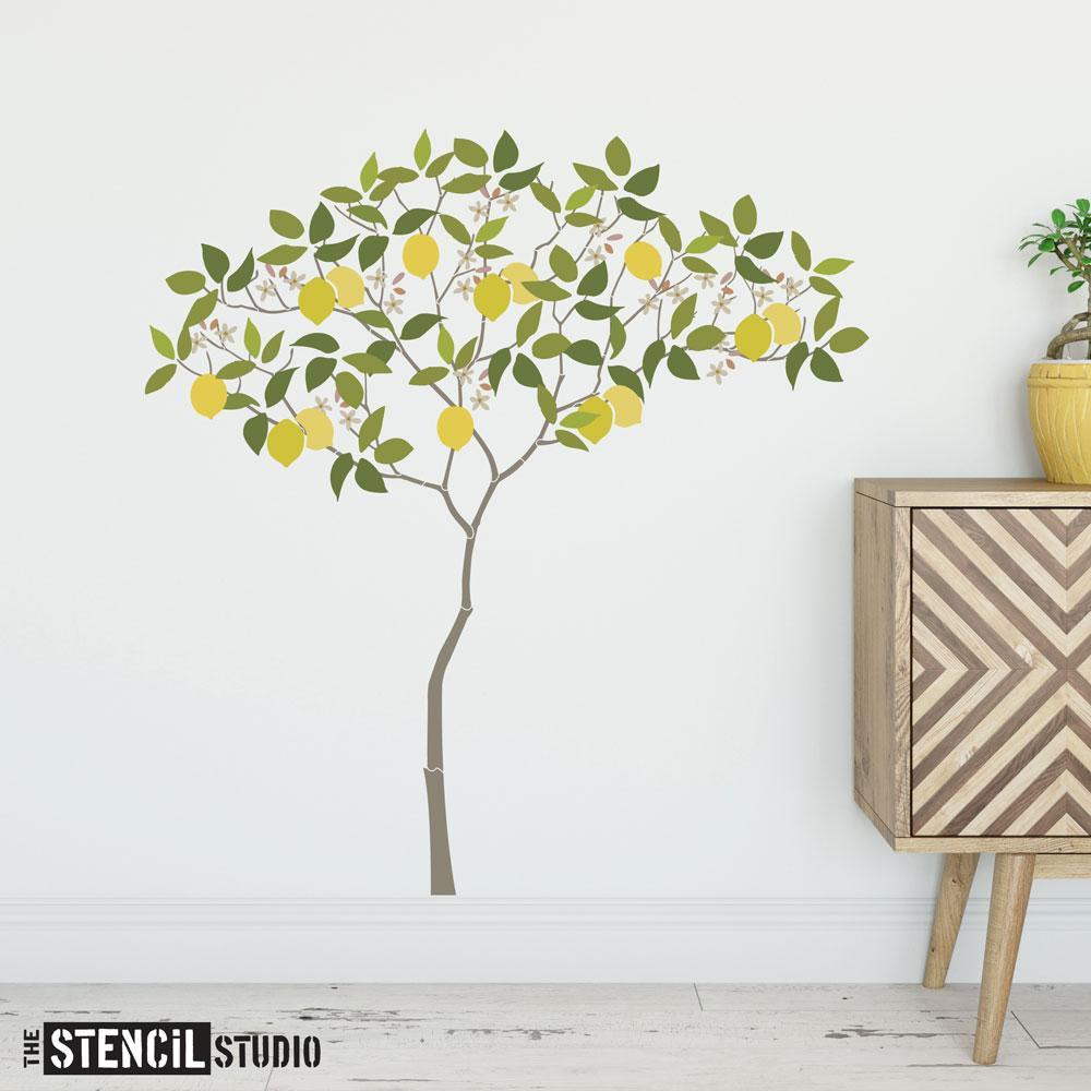 Triangle Tree with Lemons from The Stencil Studio - Size L