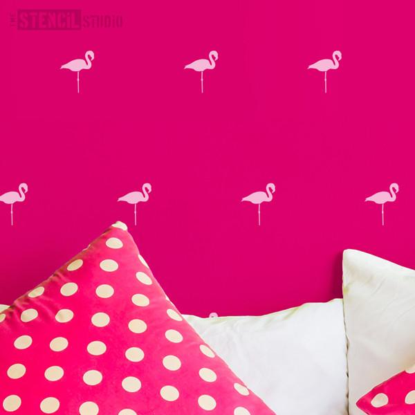Flamingoes everywhere stencil from The Stencil Studio Ltd - Size L