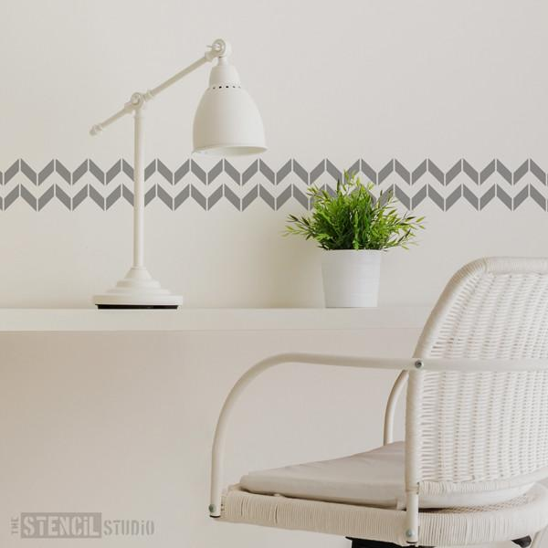 Chevron stencil from The Stencil Studio Ltd - Size XS
