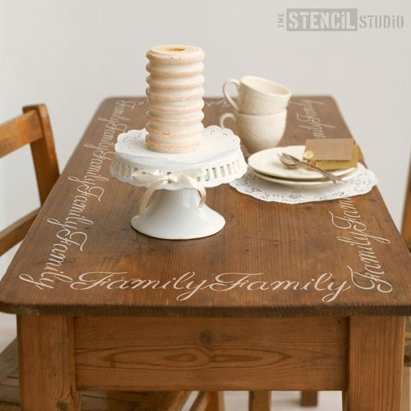 Family text stencil from The Stencil Studio Ltd - Size S