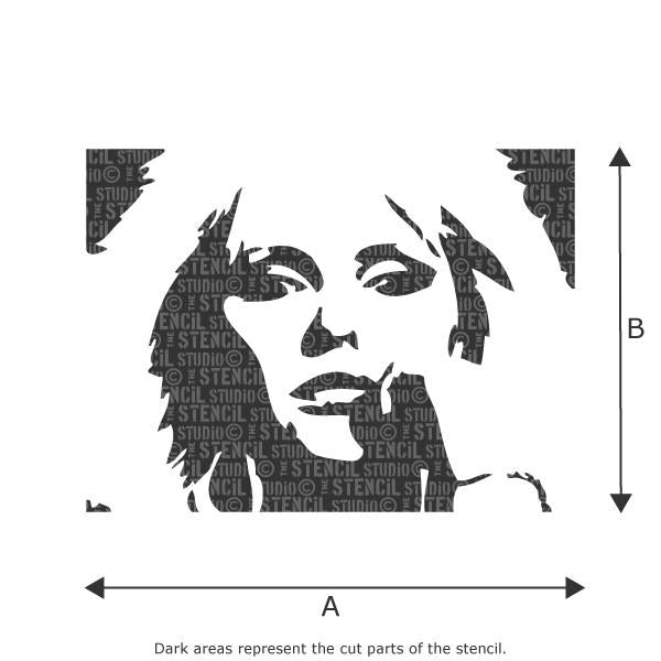 Deborah Harry stencil from The Stencil Studio Ltd