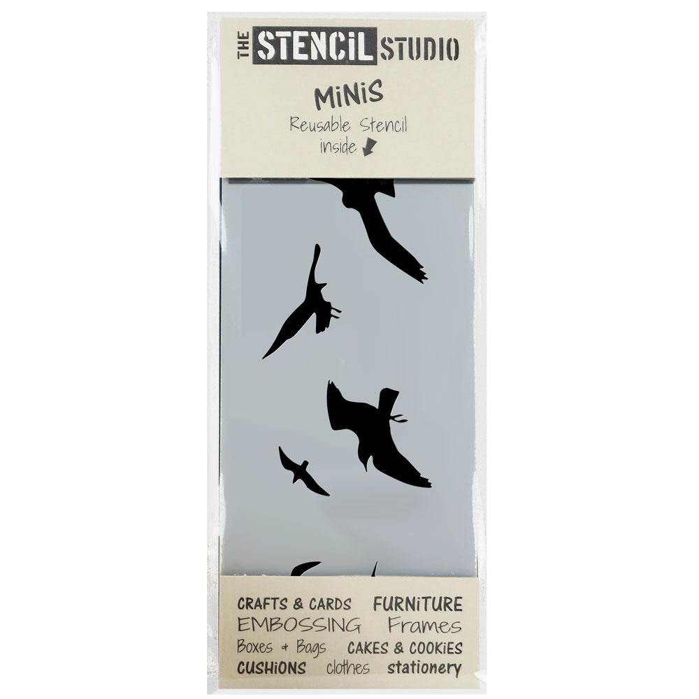 Seagulls stencil MiNi from The Stencil Studio