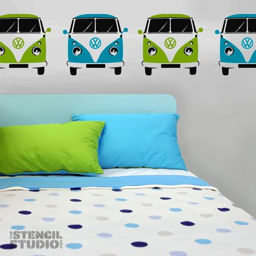 Newquay camper van stencil from The Stencil Studio Ltd - Size L