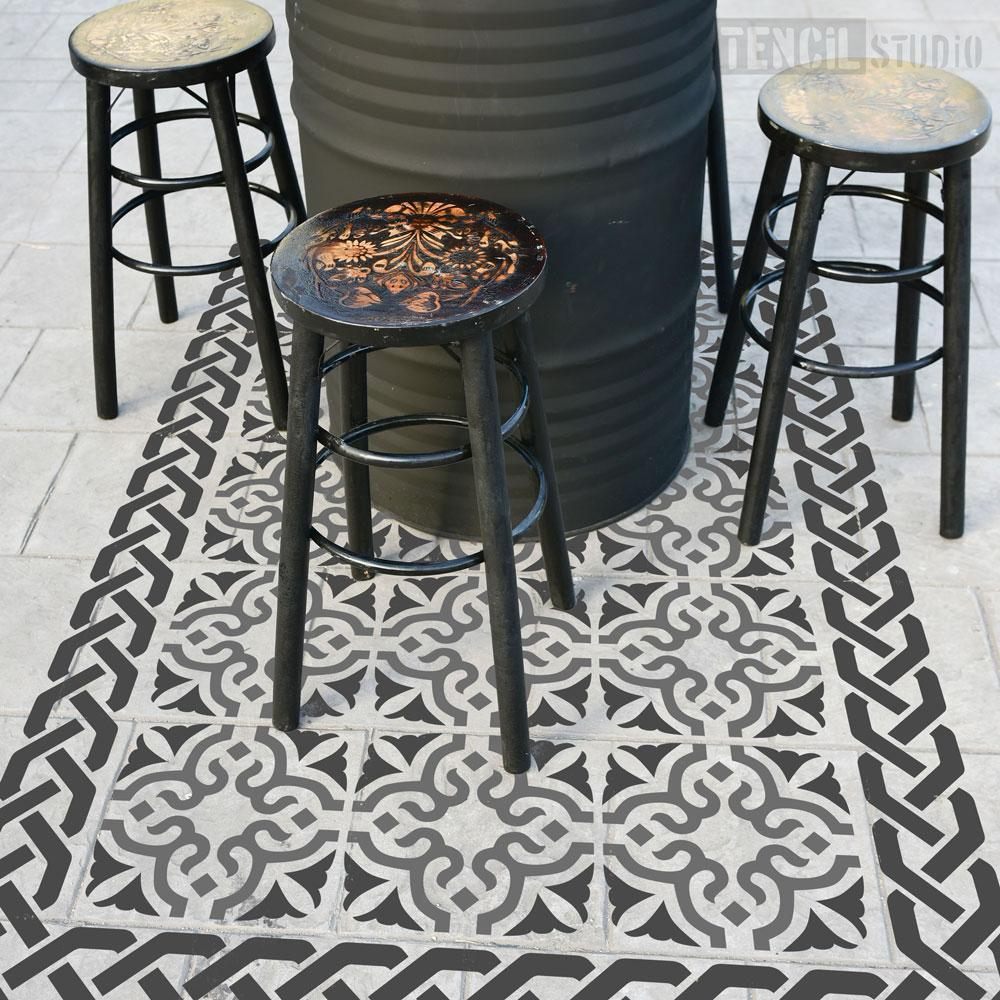 Bagpath Patio Rug Stencil