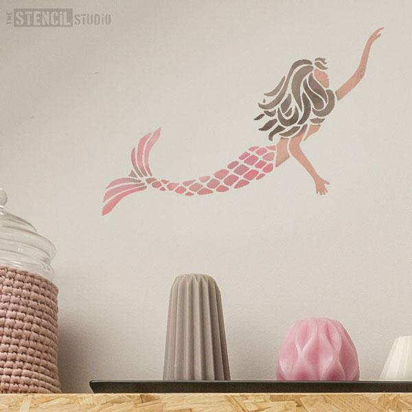 Mermaid stencil from The Stencil Studio - Size S