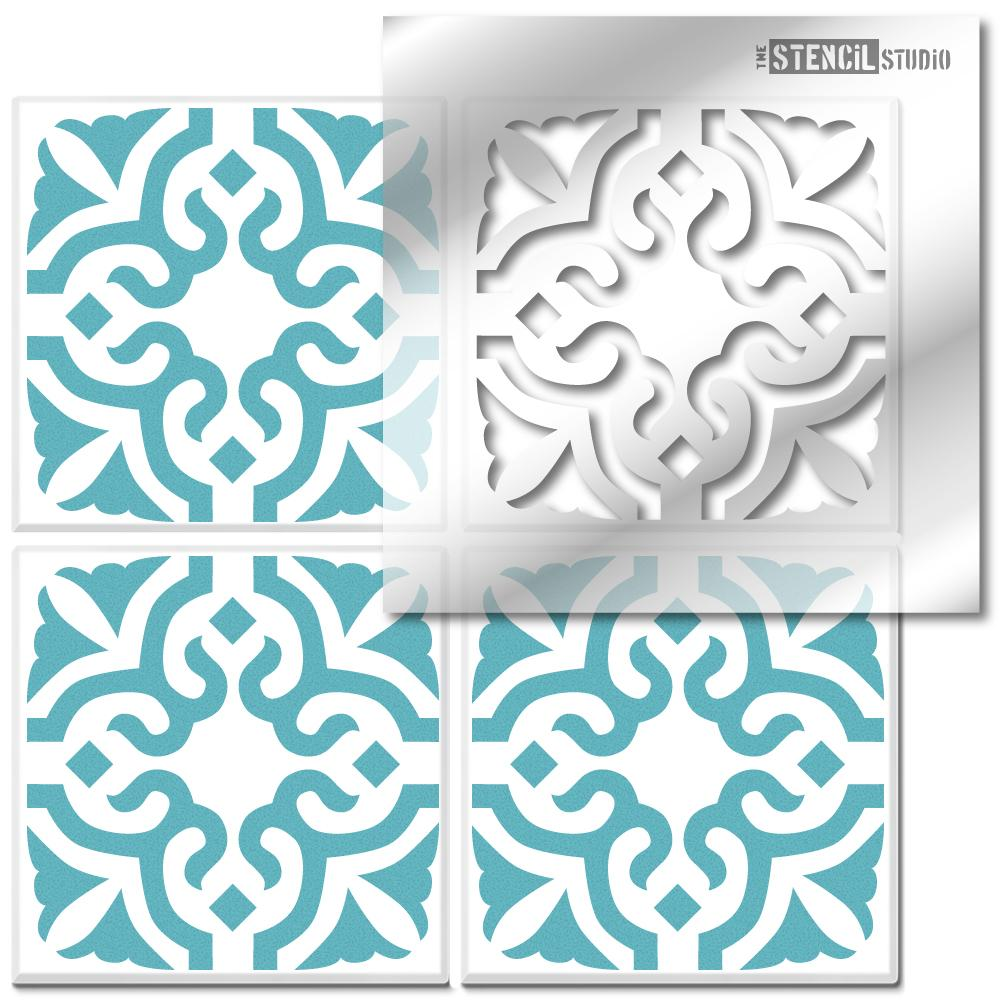 Bagpath Tile Stencil