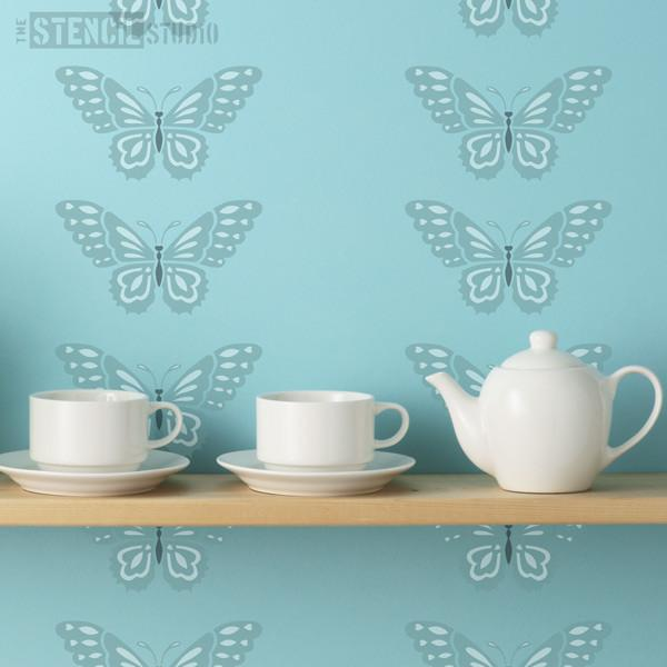 beautiful butterfly stencil from the stencil studio ltd size XS