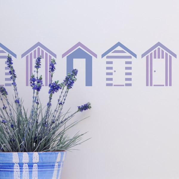 Southwold Beach Huts stencil from The Stencil Studio Ltd - Size XS
