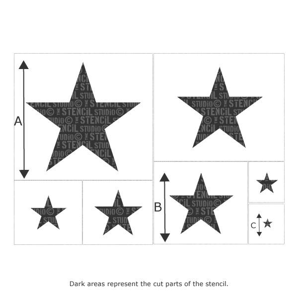 Star set of 7 stencils from The Stencil Studio Ltd