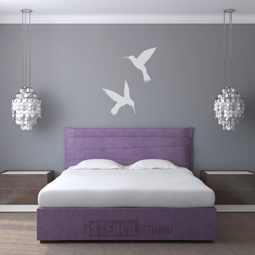 HUMMINGBIRDS STENCIL FROM THE STENCIL STUDIO LTD - SIZE XL